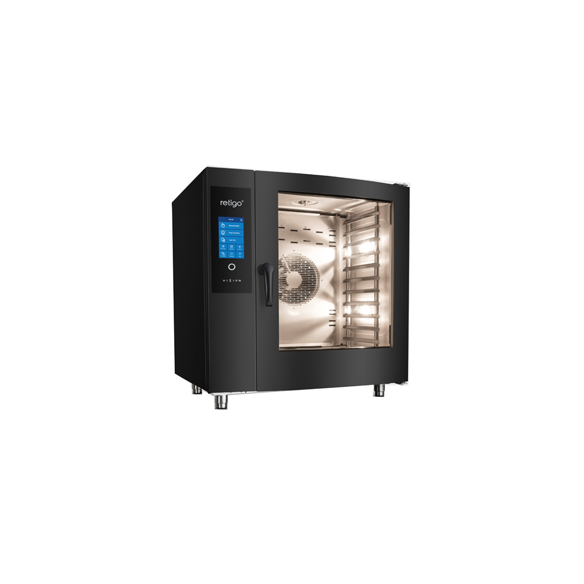 Retigo Blue Vision 6x Grid Combination Oven Limited Black Edition B611b