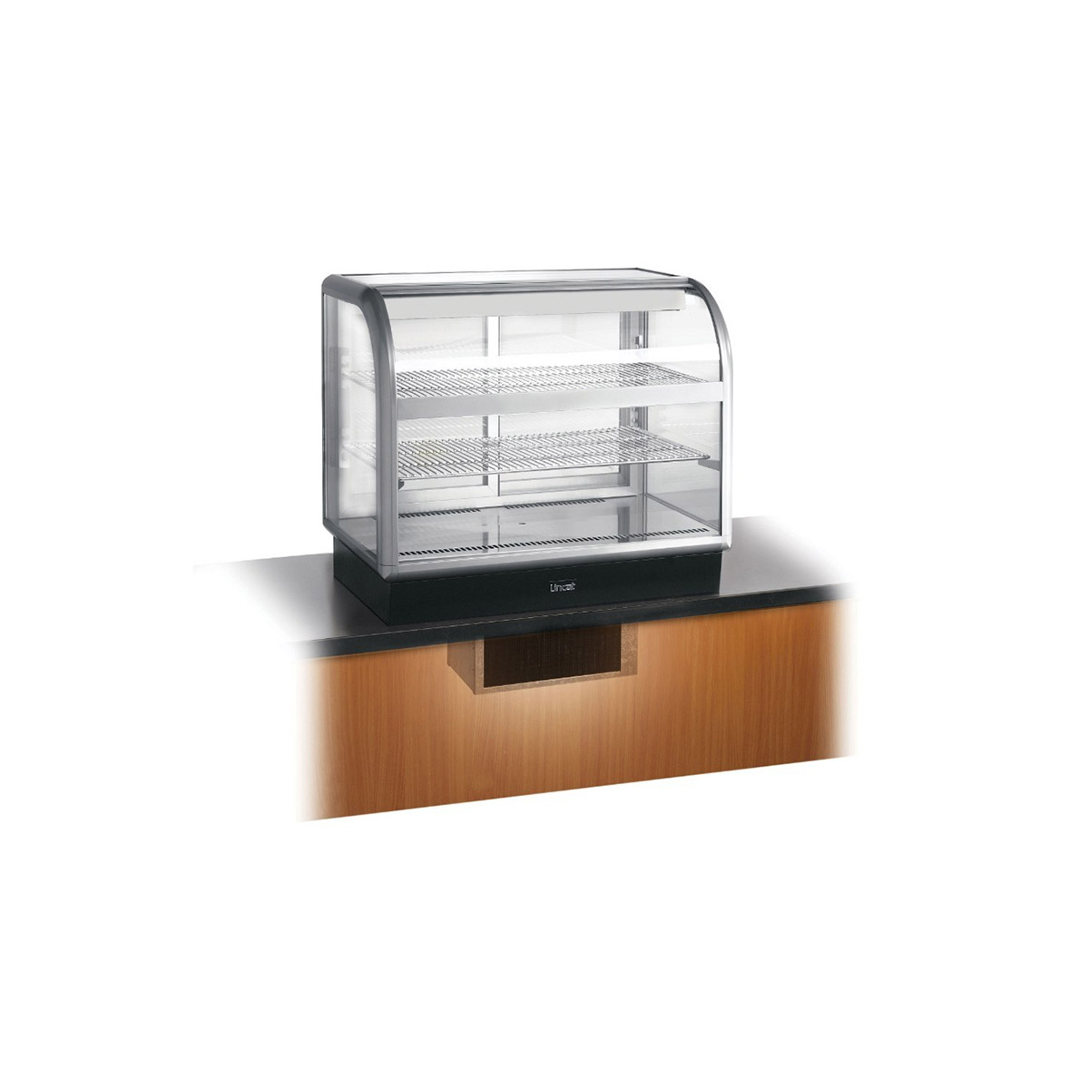 C6R/100BU - Lincat Seal 650 Series Counter-top Curved Front Refrigerated Merchandiser - Back-Service - Under-Counter Power Pack - W 1000 mm - 0.7 kW