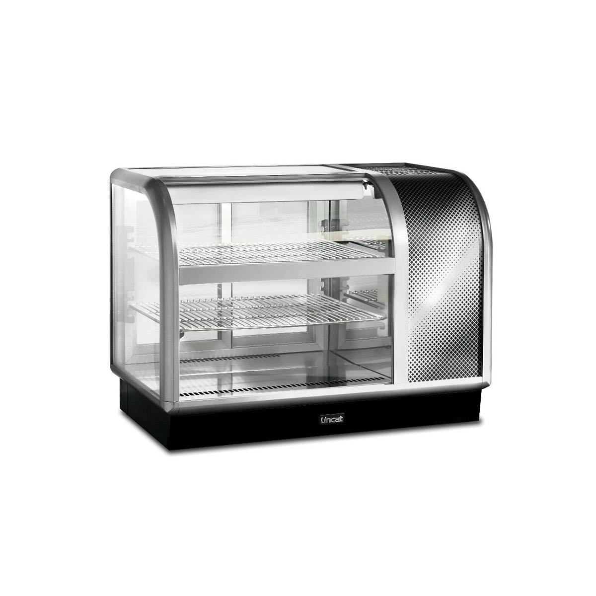 C6R/105BR - Lincat Seal 650 Series Counter-top Curved Front Refrigerated Merchandiser - Back-Service - Side-Mounted Power Pack [Right] - W 1050 mm - 0.6 kW