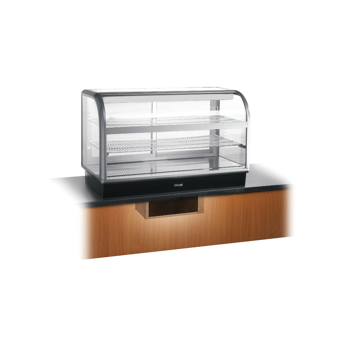 C6R/125BU - Lincat Seal 650 Series Counter-top Curved Front Refrigerated Merchandiser - Back-Service - Under-Counter Power Pack - W 1250 mm - 0.7 kW