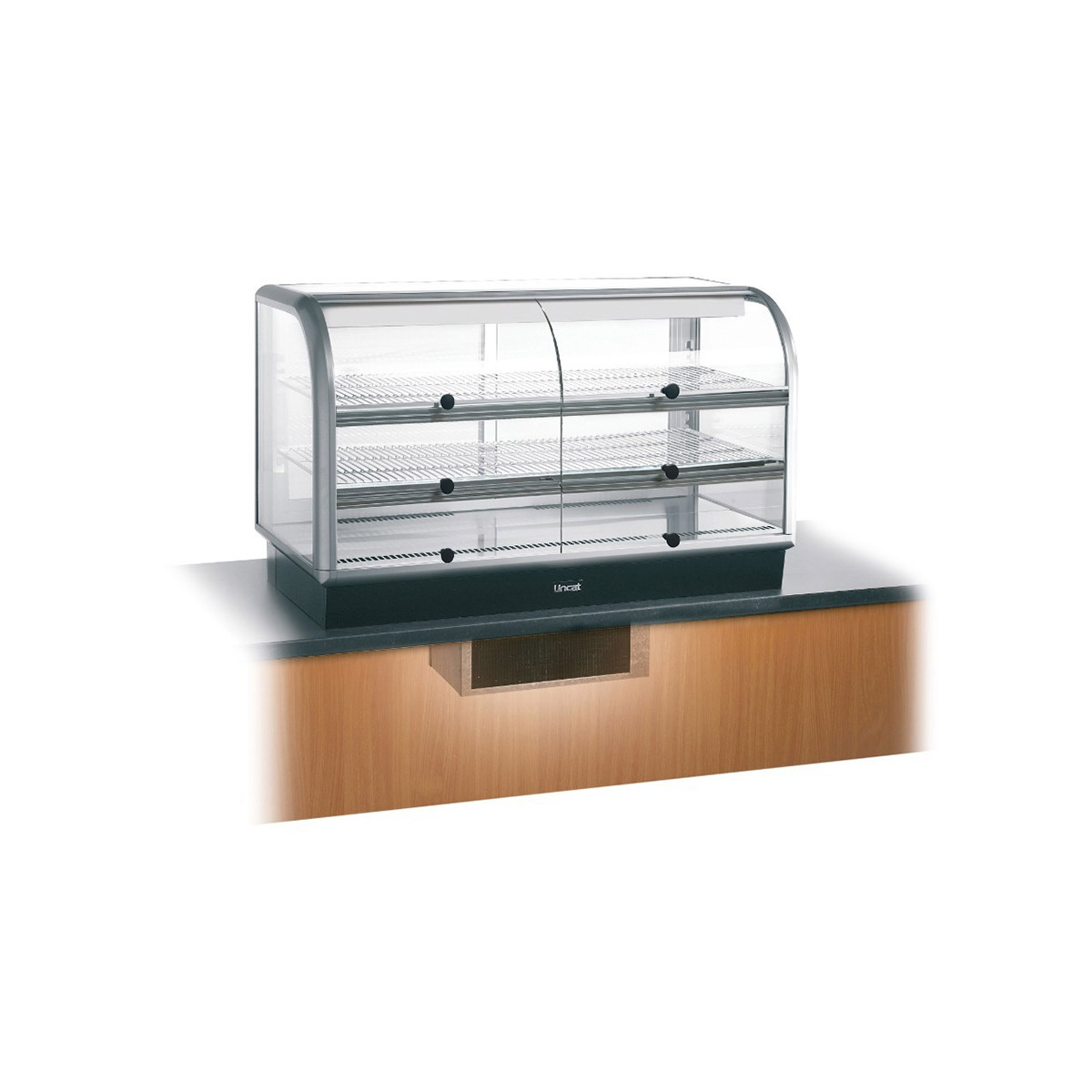 C6R/125SU - Lincat Seal 650 Series Counter-top Curved Front Refrigerated Merchandiser - Self-Service - Under-Counter Power Pack - W 1250 mm - 0.7 kW