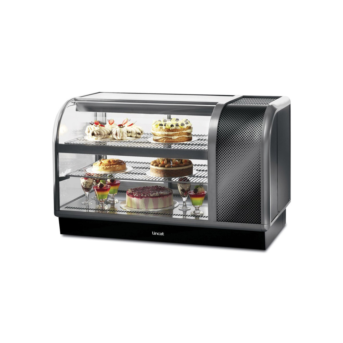 C6R/130BR - Lincat Seal 650 Series Counter-top Curved Front Refrigerated Merchandiser - Back-Service - Side-Mounted Power Pack [Right] - W 1300 mm - 0.7 kW