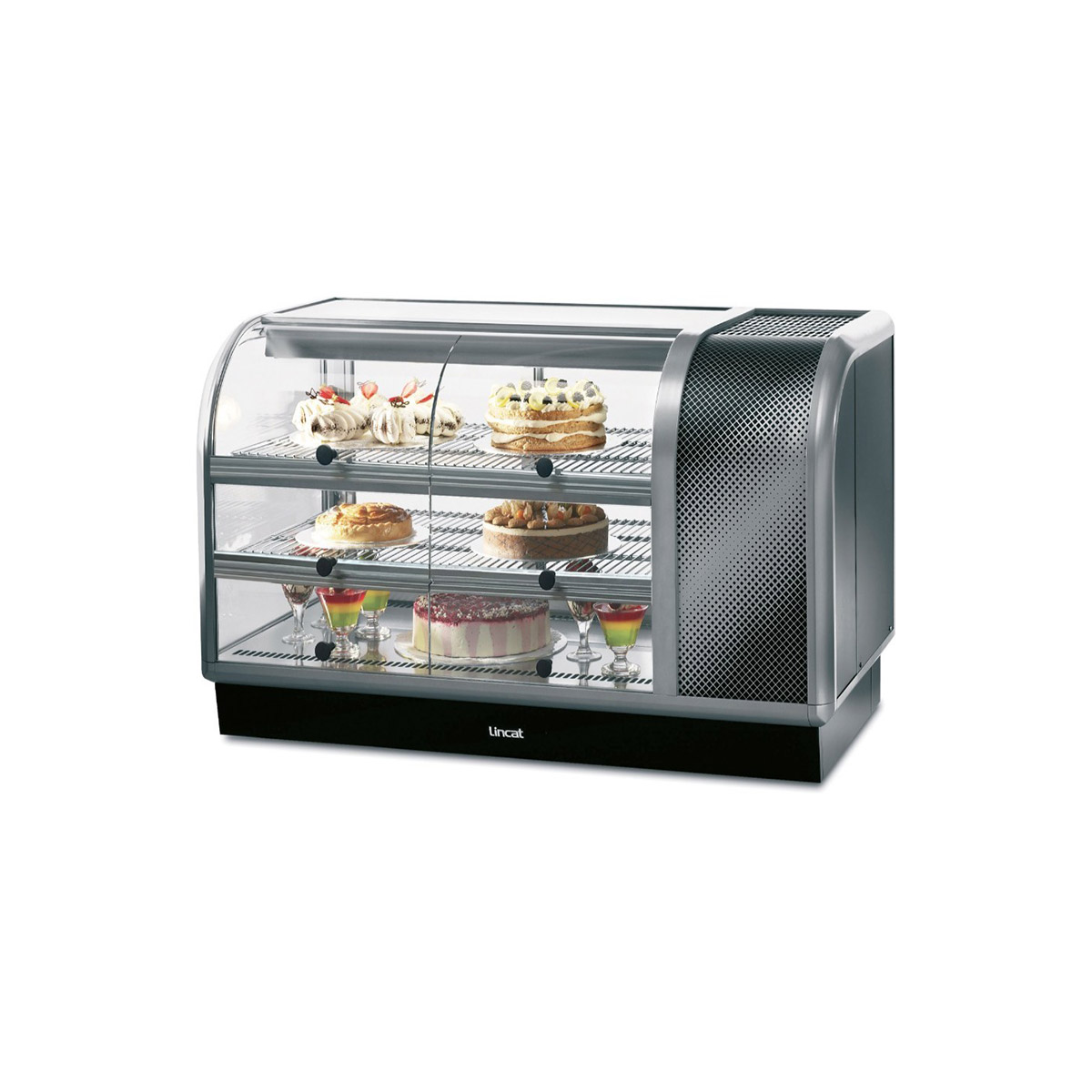 C6R/130SR - Lincat Seal 650 Series Counter-top Curved Front Refrigerated Merchandiser - Self-Service - Side-Mounted Power Pack [Right] - W 1300 mm - 0.7 kW