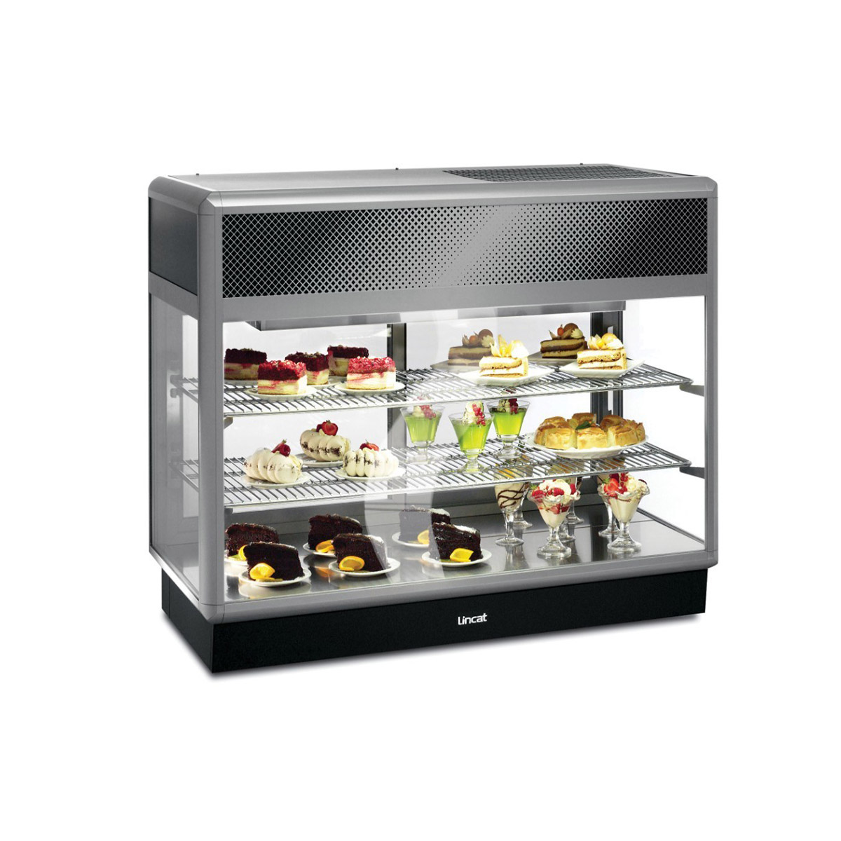 D6R/125B - Lincat Seal 650 Series Counter-top Rectangular Front Refrigerated Merchandiser - Back-Service - W 1250 mm - 0.7 kW