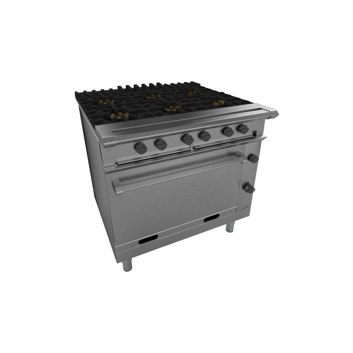 Falcon Chieftain 6x Burner Gas Oven Range On Casters G1066X