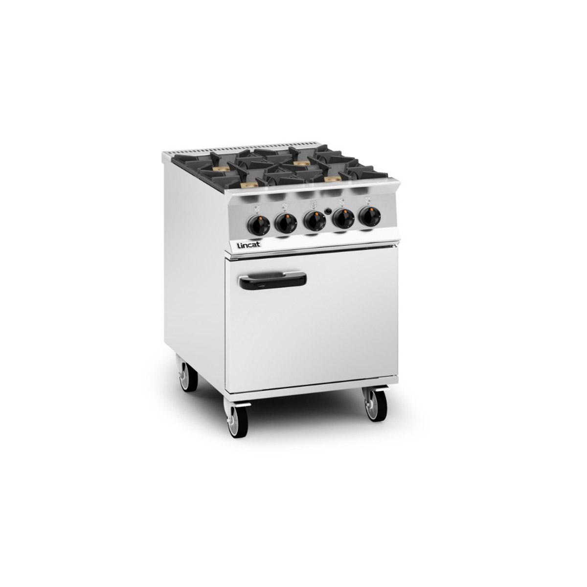 Lincat Opus 800 – 4 Burner Gas Oven Range Model: OG8001/N/RHD (Natural Gas)