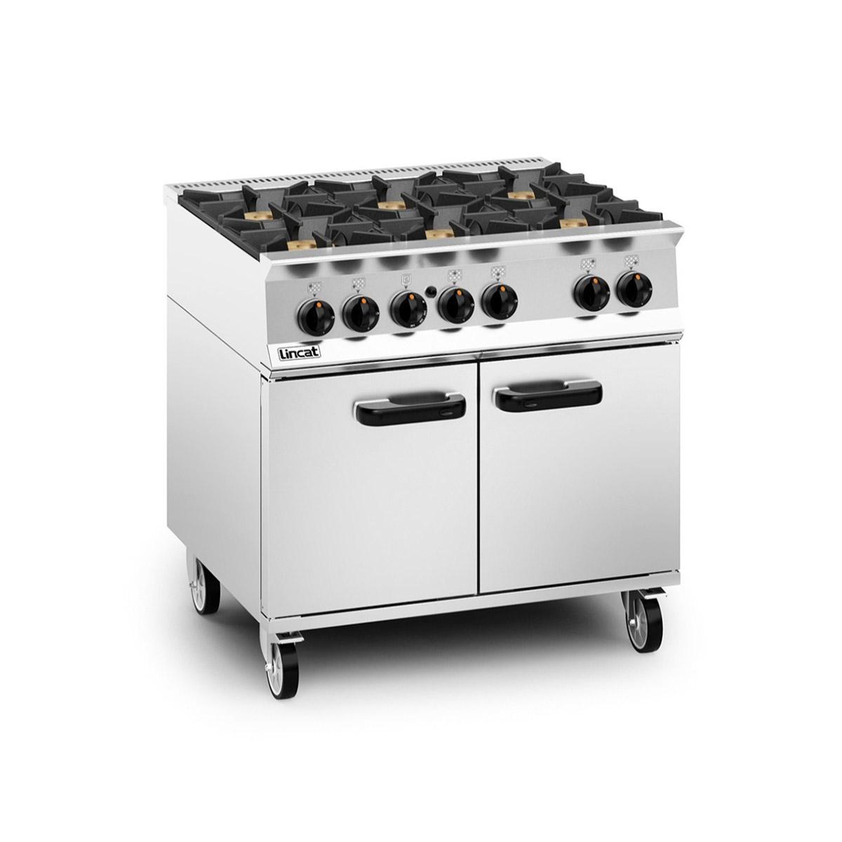 Lincat Opus 800 – 6 Burner Gas Oven Range Model: OG8002/N (Natural Gas)