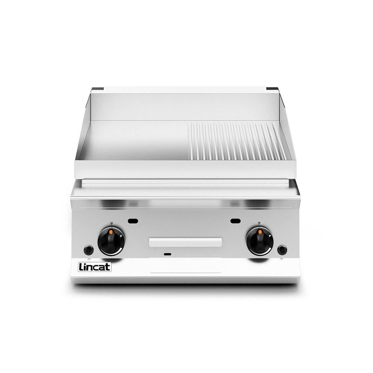 Lincat Opus 800 Half Ribbed Gas Griddle Model: OG8201/R/P (Propane)