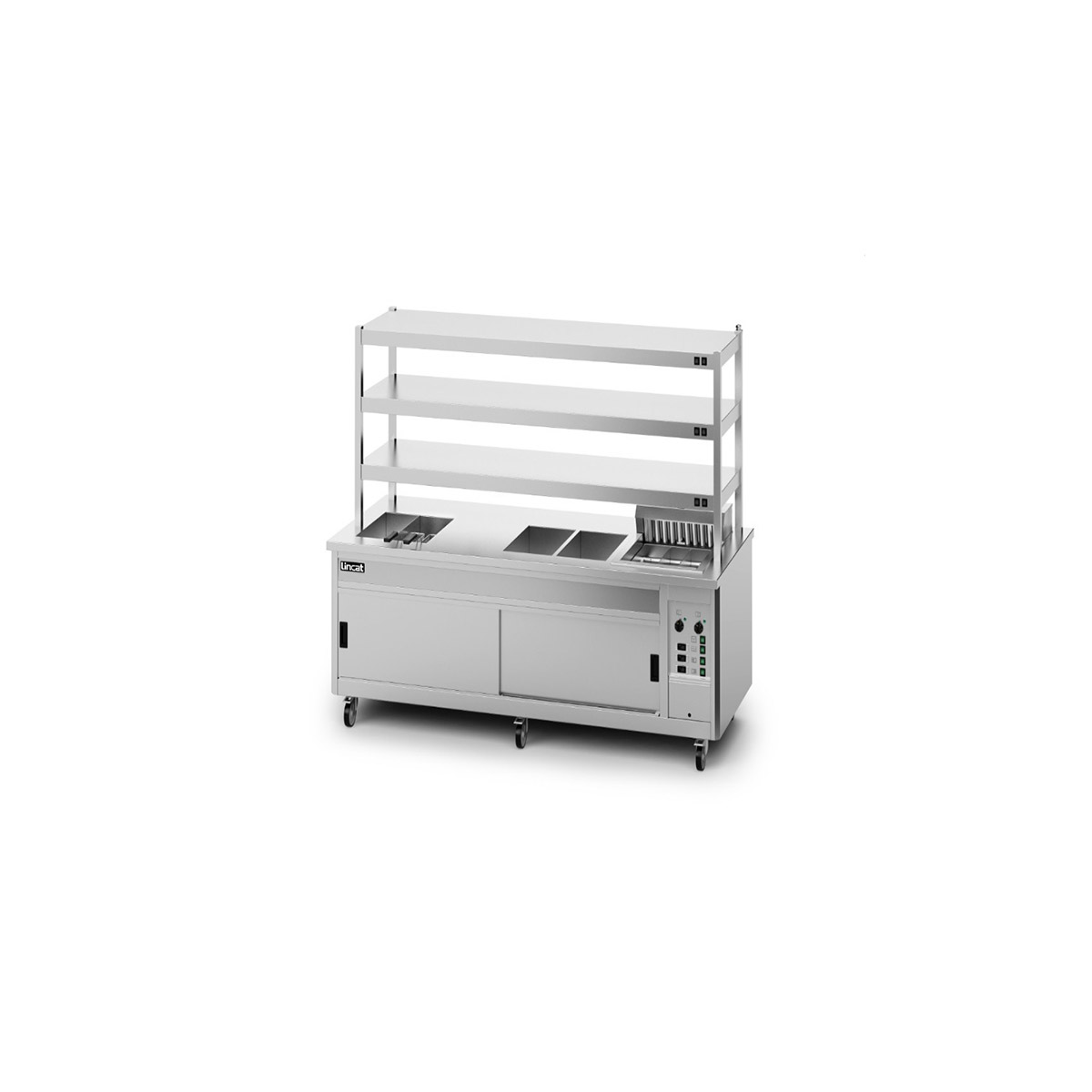 P10SP6PT - Lincat Panther SuperPass Series Free-standing Hot Cupboard - Bain Marie Top - W 2400 mm - 16.52 kW