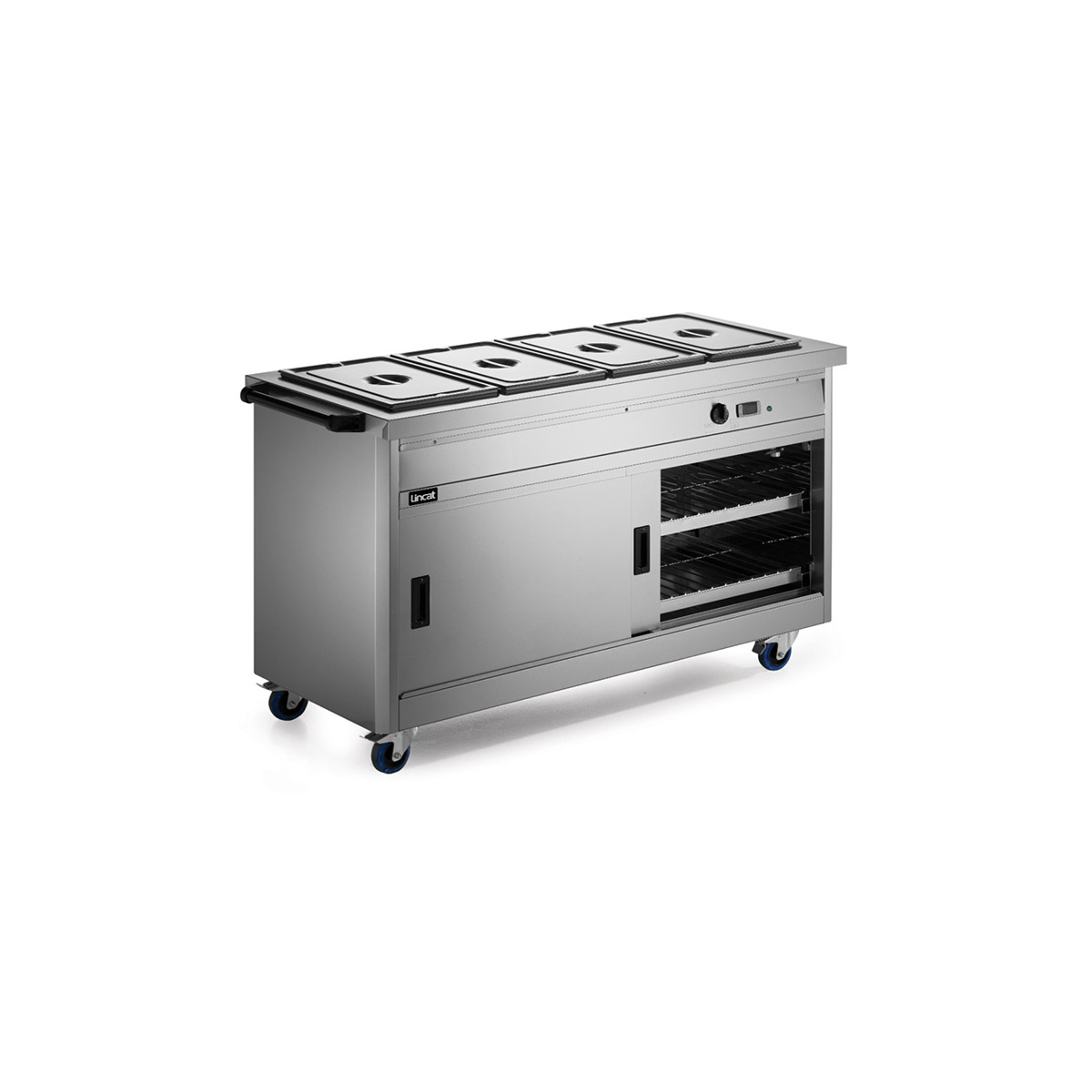 P6B4 - Lincat Panther 670 Series Free-standing Hot Cupboard - Bain Marie Top - 4GN - W 1530 mm - 4.9 kW