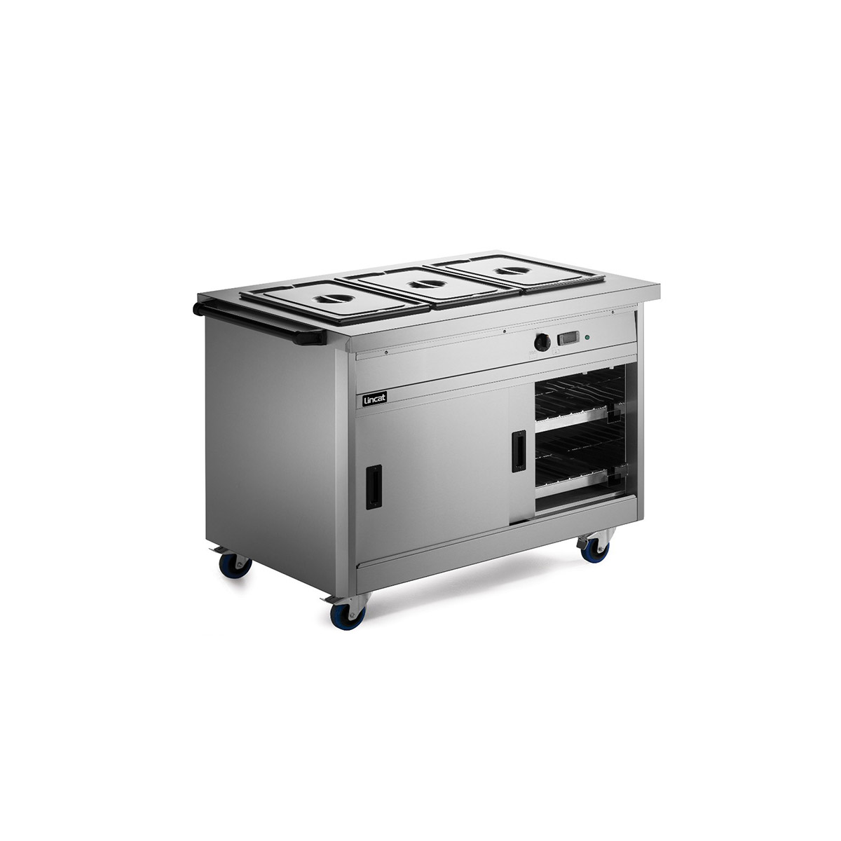P8B3 - Lincat Panther 800 Series Free-standing Hot Cupboard - Bain Marie Top - 3GN - W 1205 mm - 2.8 kW