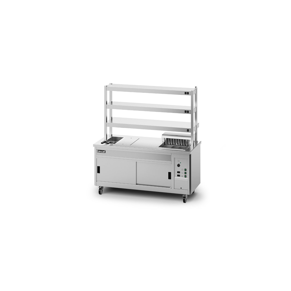 P8SP4PT - Lincat Panther SuperPass Series Free-standing Hot Cupboard - Bain Marie Top - W 1800 mm - 11.62 kW
