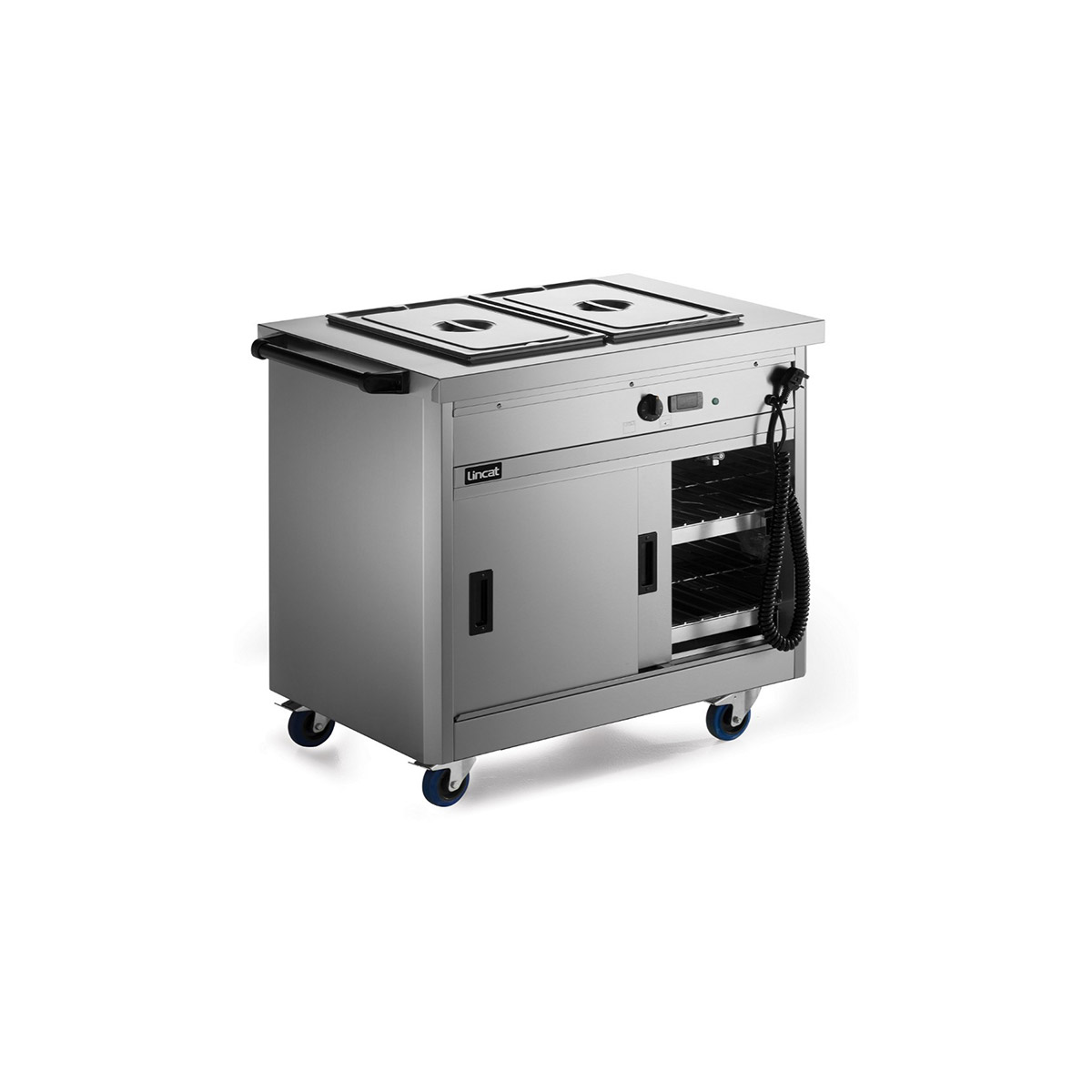 P6B2 - Lincat Panther 670 Series Free-standing Hot Cupboard - Bain Marie Top - 2GN - W 980 mm - 2.6 kW