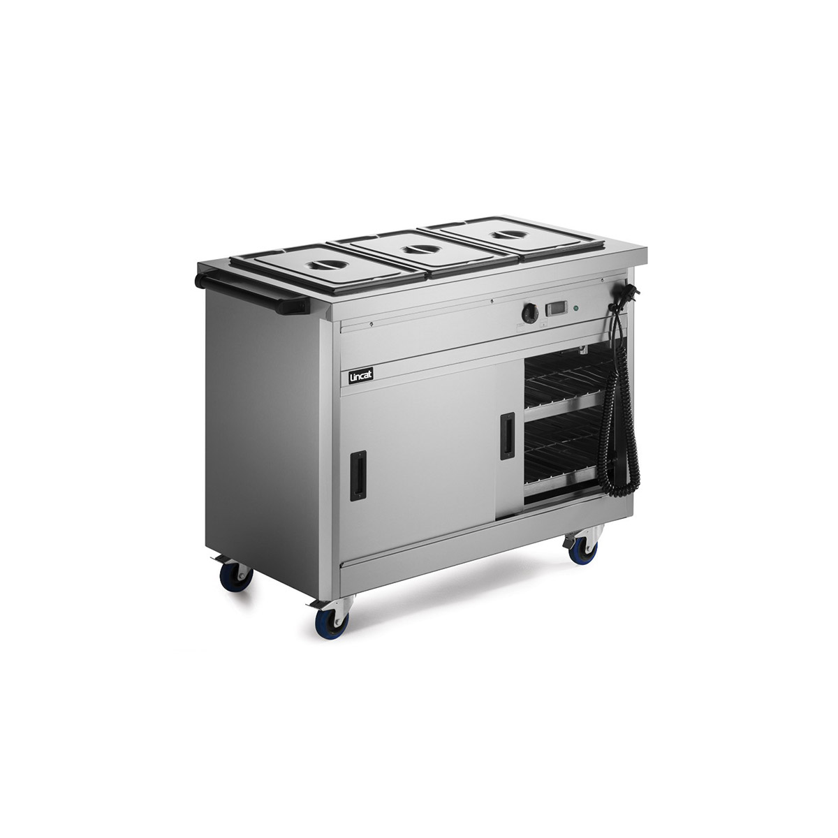 P6B3 - Lincat Panther 670 Series Free-standing Hot Cupboard - Bain Marie Top - 3GN - W 1205 mm - 2.8 kW