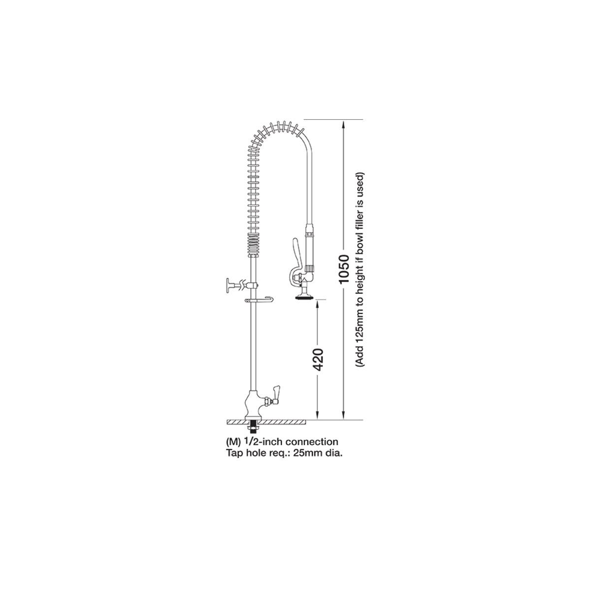 AquaJet AJPR10-ST-BF0-S Pre Rinse Spray Hose