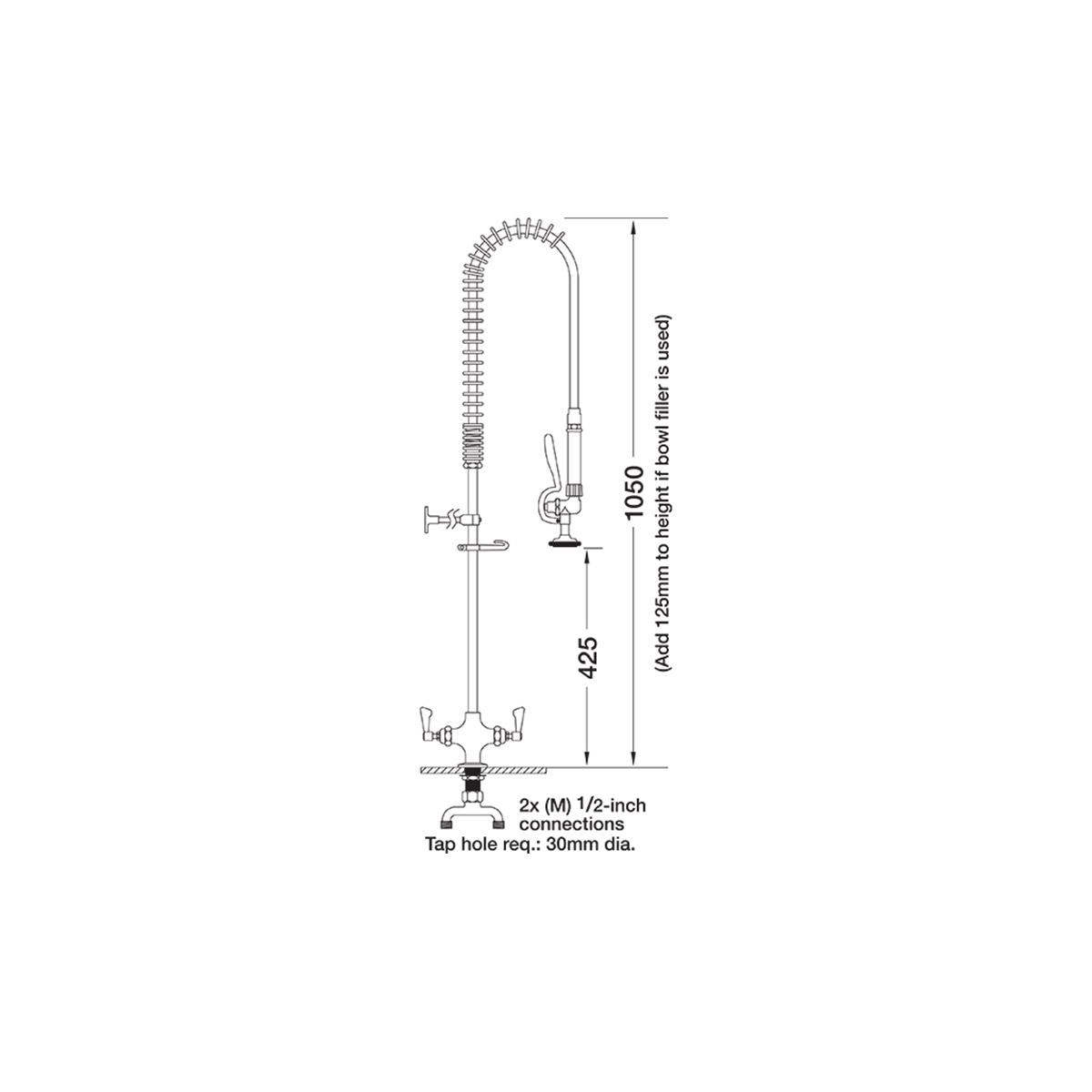 AquaJet AJPR20-ST-BF0-S Pre Rinse Spray Hose