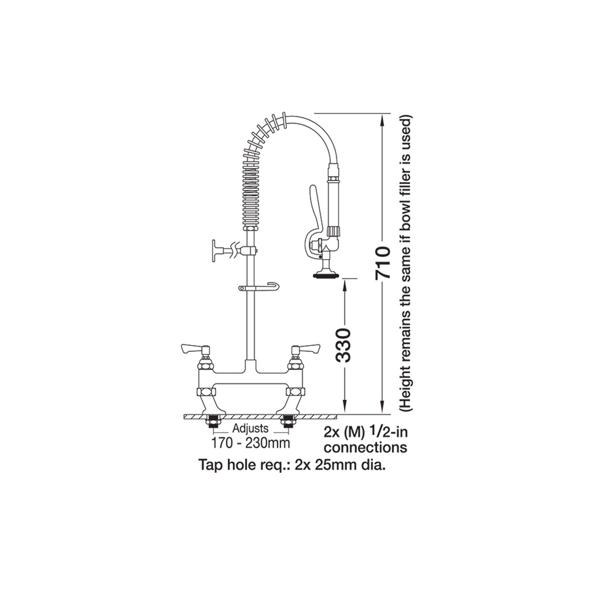 AquaJet AJPR30-SH-BF0-S Pre Rinse Spray Hose