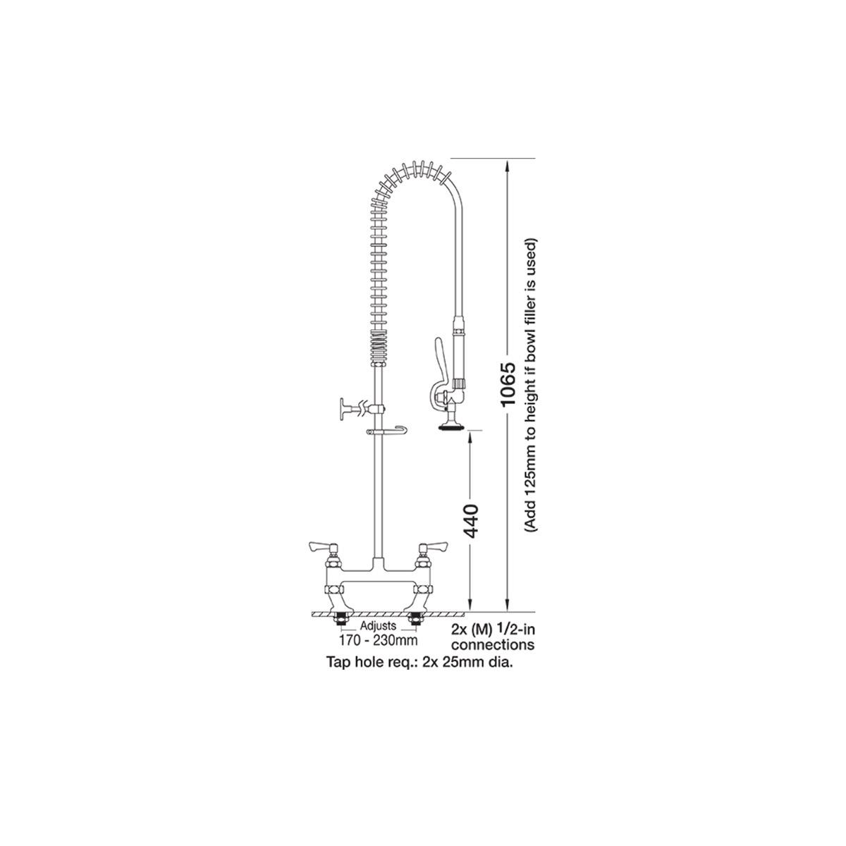 AquaJet AJPR30-ST-BF0-S Pre Rinse Spray Hose