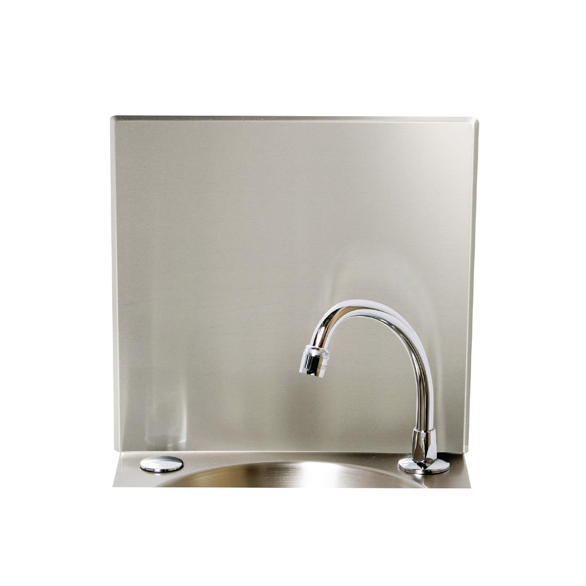Stainless Steel Splashback Panel Designed For Use With The Basix Knee Operated Sink (CC260)