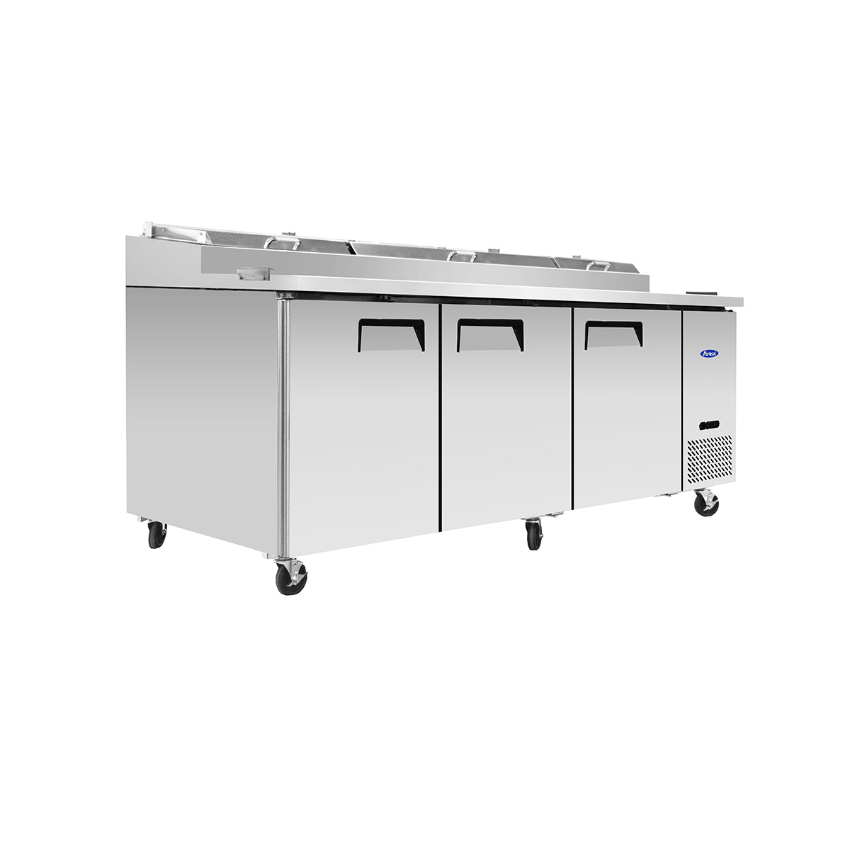 Atosa MPF8203GR 3 Door Refrigeration Preparation Table Including 12x 1/3 GN Pan Option