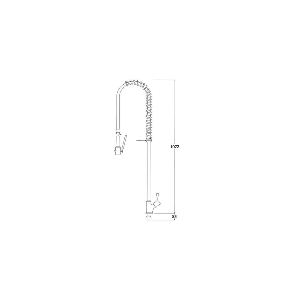 AquaTechnix TX-PR-10L-ST-BF0 Pre-Rinse Spray Hose