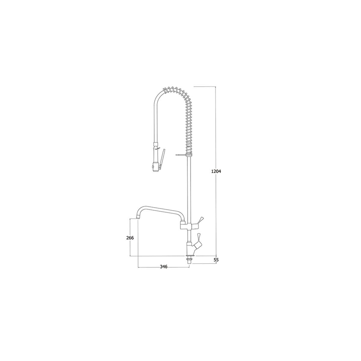 AquaTechnix TX-PR-10L-ST-BF2 Pre Rinse Spray Hose