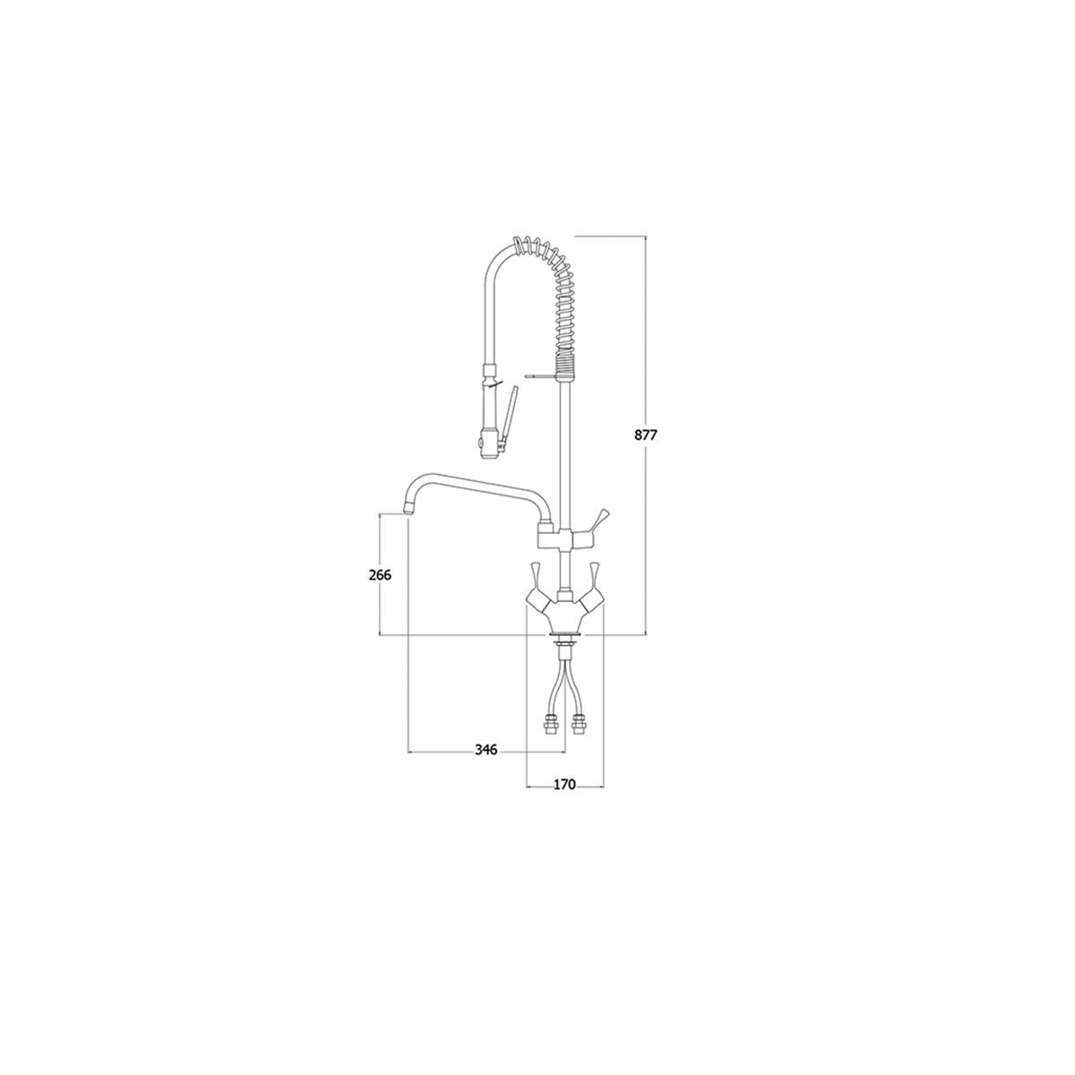 AquaTechnix TX-PR-20L-SH-BF2 Pre Rinse Spray Hose