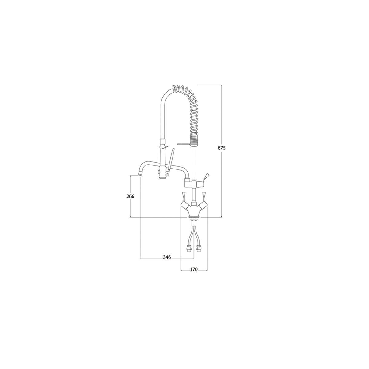 AquaTechnix TX-PR-20L-SS-BF2 Pre Rinse Spray Hose