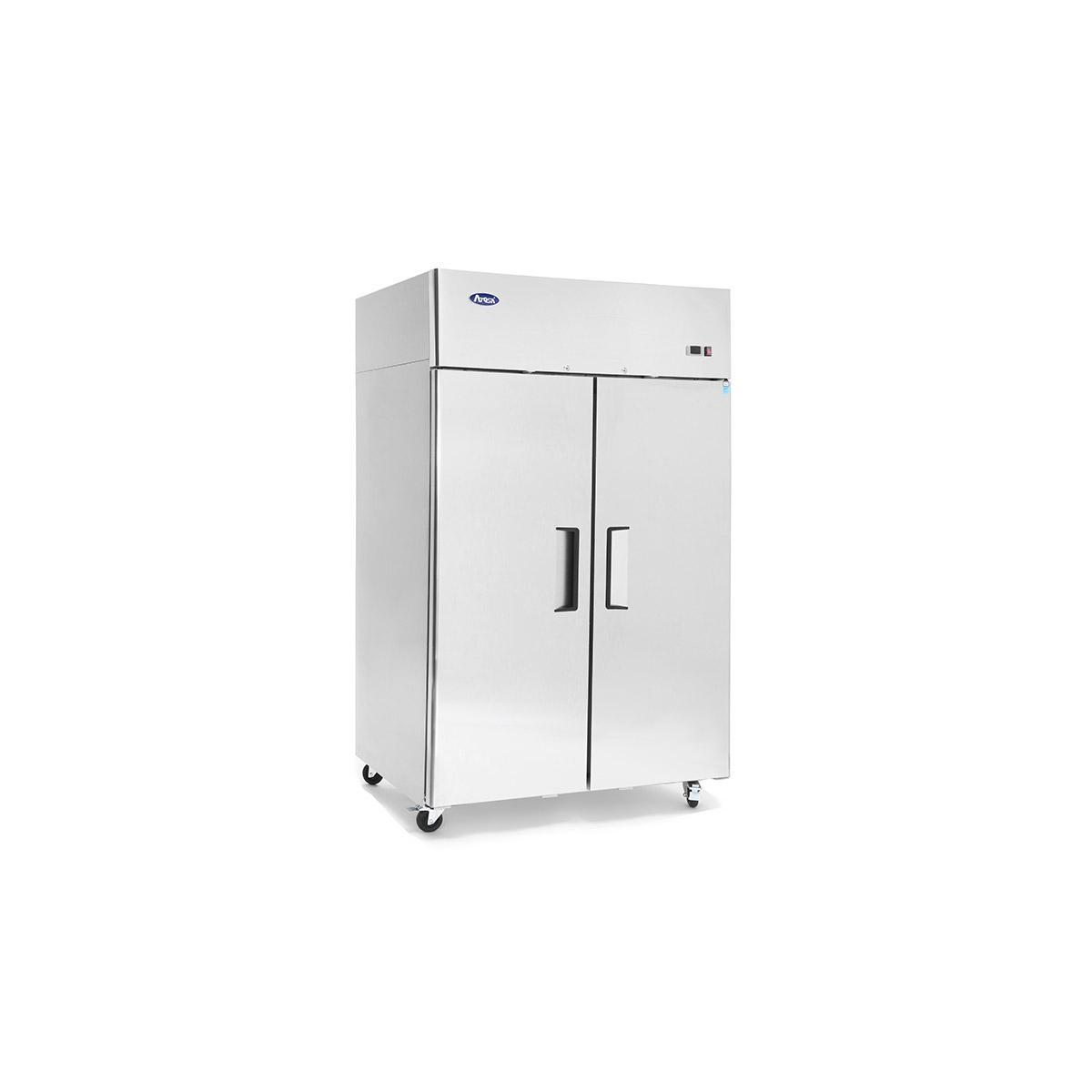 Atosa YBF9218GR Slimline Upright Double Door Fridge