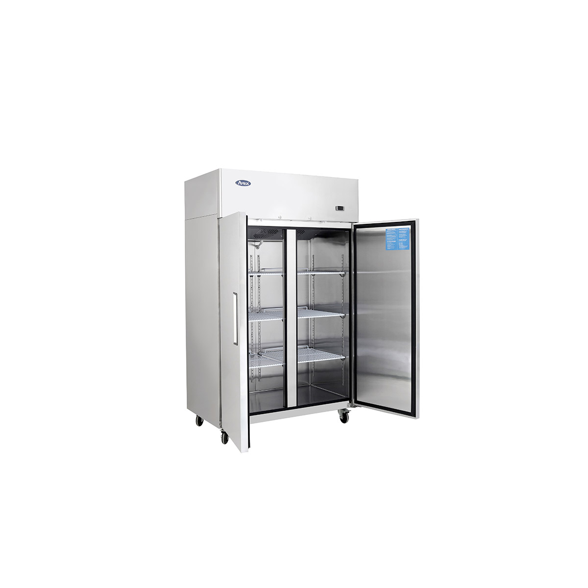 Atosa YBF9219GR Slimline Upright Double Door Freezer 900ltrs