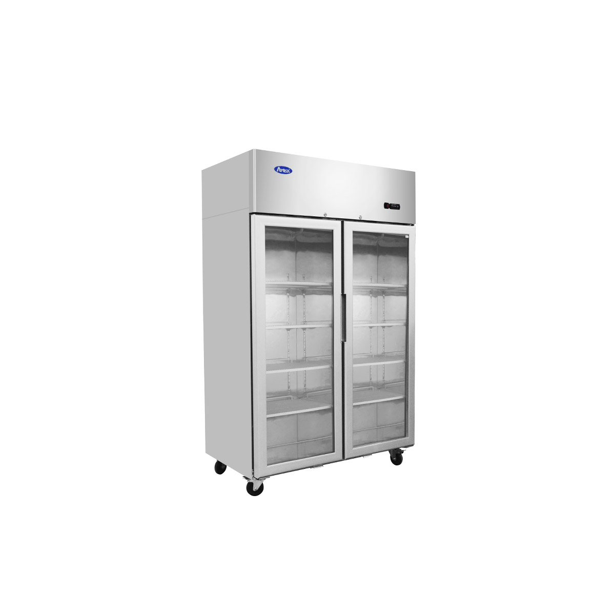 Atosa YCF9408GR Slimline Double Glass Door Upright Freezer 900ltrs